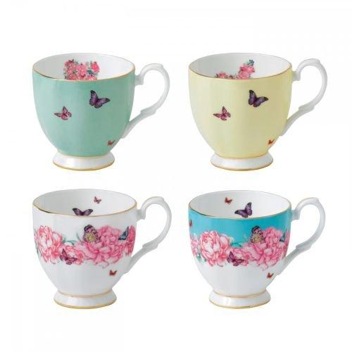 Royal Albert Miranda Kerr Vintage Mugs (Set of 4), 10.5 oz