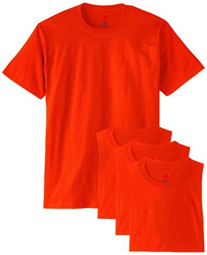 Hanes Men's ComfortSoft T-Shirt , Orange, Large