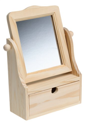 CASTELL USA INC. Create Your Own Vanity Box with Mirror Creativity Craft Kit for Kids A.W FABER