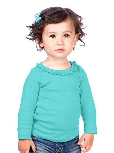 Kavio! Infants Sunflower Long Sleeve Top Caribbean Blue 18M ()