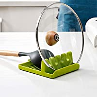 1PC - Silicone Kitchen Utensil Rest with Drip Pad Spoon Rest & Spoon, Ladles, Tongs Holder (1 PC)