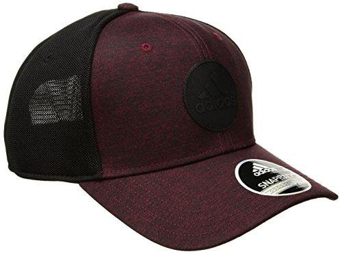 adidas Men's Thrill Structured Snapback Cap, Jersey Print Collegiate Burgundy/Black, One Size