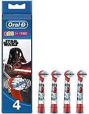 Oral-B 160953 Kids Star Wars Wymienne Nakładki Do Szczoteczki, 4Sztuki, Wielokolorowy