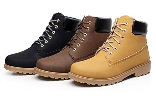 Bininbox Manar Tillfälliga High-top Arbete Stövlar Snö Vandring Sneakers Andas Sportsportskor Vintage Svart