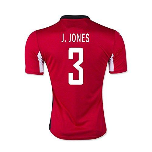 作曲家崩壊広告するJoma J. Jones #3 Trinidad and Tobago Home Soccer Jersey 2015/サッカー ユニフォーム トリニダード?トバゴ共和国 ホーム用 J. ジョーンズ 背番号3