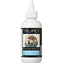 Dog and Cat Ear Cleaner Solution - Clear Me: Pet Ear Care (4oz) - All Natural Ear Cleaning Solution that Removes Debris and Wax, Helps Reduce Ear Infections, and Deodorizes