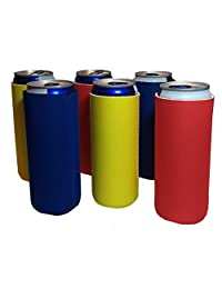 12 oz ultra slim Can Cooler Sleeves   6 pack plega