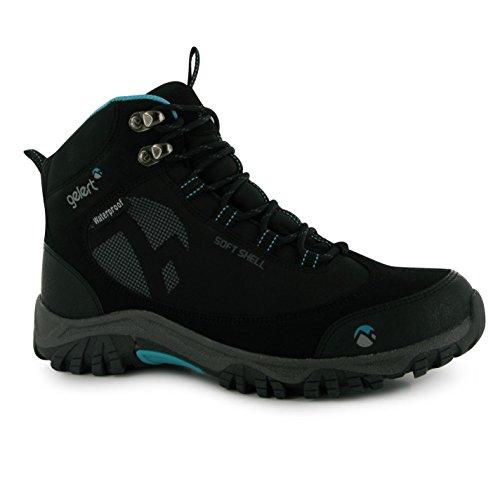 Gelert Softshell Damen Wanderstiefel Wasserdicht Trekking Outdoor Stiefel Boots Schwarz 6.5 (40)