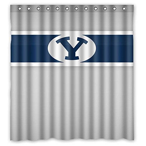 Dropship Wholesale Discount - JIUDUIDDODO Coustom BYU Durable Antibacterial Waterproof Polyester Fabric Soft Shower Curtain Size 66