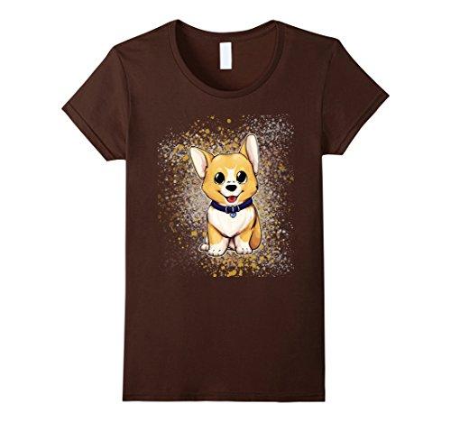 Womens Cute Baby Pembroke Welsh Corgi Dog T-Shirt - Dog L...