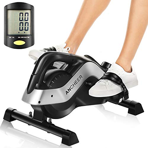ANCHEER Pedal Exerciser, Under Desk Cycle Mini Exercise Bike for Leg and Arm Exercise with LCD Monitor (PE-Bike) ANCHEER