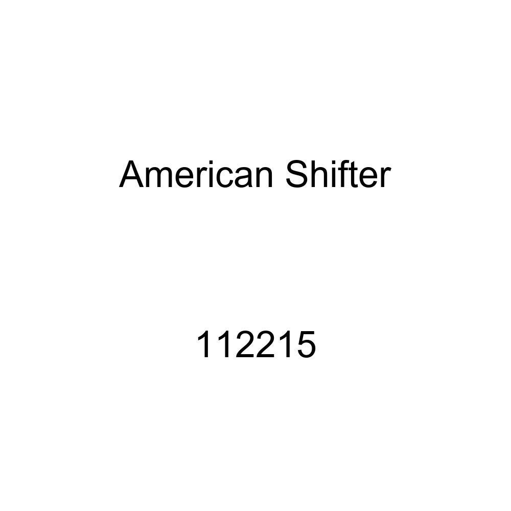 American Shifter 112215 Red Stripe Shift Knob with M16 x 1.5 Insert Black Unlocked Symbol
