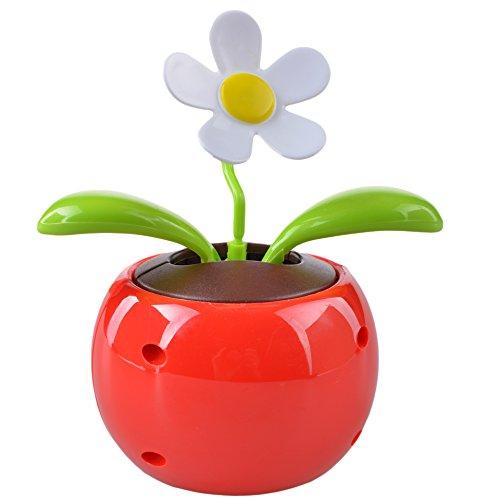 (Simple_Store) Solar Powered Flip Flap Dancing Flower Pot Plant (Red) -------------------- Toys / Hobbies > novelties