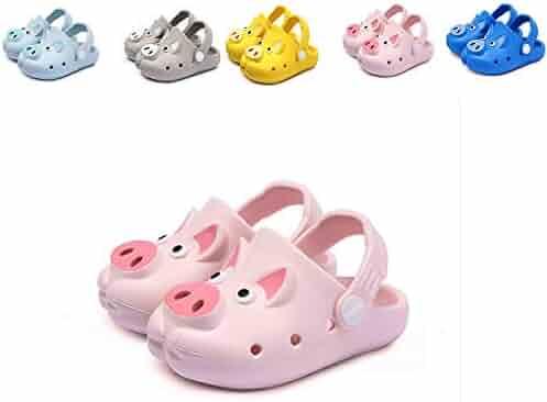b5b176715a3d HEA GH Kids Boys Girls Comfort Clogs Lightweight Water Pool Garden Shoes  Cute Anti Slip On