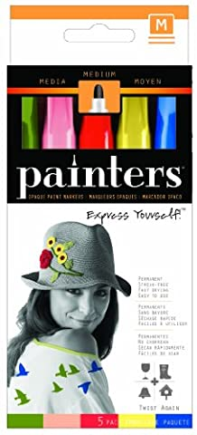 ELMERS Painters Acrylic Medium Tip Paint Markers, Twist Again Colors, Set of 5 (7527)