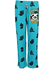 Brief Insanity Men's Sloth Don't Hurry Be Happy Lounge Pajama Pants