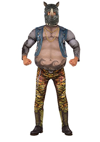 Rubie's Men's Teenage Mutant Ninja Turtles 2 Deluxe Rocksteady Costume, As Shown, X-Large