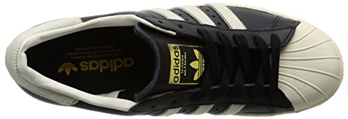 Adidas Mens Superstar 80s Core Black Footwear White Leather Trainers 10 US ICmNhlUr