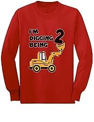 2nd Birthday - Bulldozer Construction Party Toddler Toddler/Kids Long sleeve T-Shirt