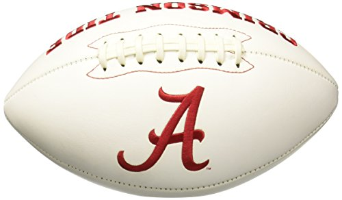 Tide Alabama Crimson Football Leather - NCAA Signature Series College-Size Football