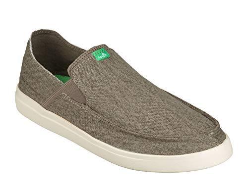 Sanuk Men's Pick Pocket Slip-On Sneaker Shoe, Brindle/Natural, 10.5 M US (Sneakers Slip Canvas On)