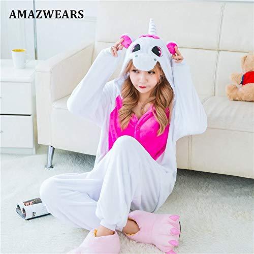 Adultos De Ropa Animales Mujeres Unicornio Rose Calientes Jylw Red Horse Invierno Dormir Pijamas White Mujer Para XFwnPYq