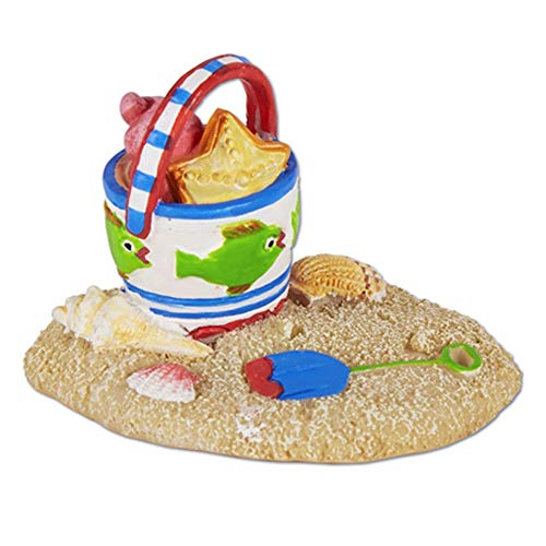 Studio M Beach Pail in Sand for Miniature Garden, Fairy Garden, Multicolor