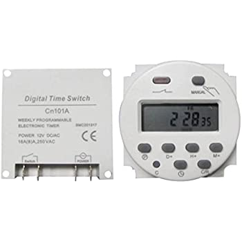 Uxcell dc 12v digital lcd power programmable timer time switch adsro dc 12v digital lcd power programmable time counter timer switch relay 16a sciox Gallery
