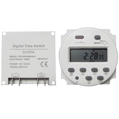 ADSRO DC 12V Digital LCD Power Programmable Time counter Timer switch Relay 16A