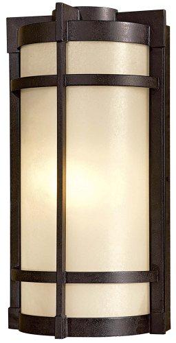 Mission Exterior Sconce - Minka Lavery Outdoor Wall Light 72021-A179-PL Mirador Exterior Pocket Sconce Lantern, 26w Fluorescent, Bronze