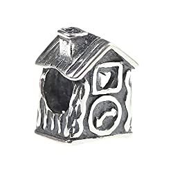Beads Hunter Jewelry House with Heart and Cuckoo Clock .925 Sterling Silver Bead Charm for European Style Bracelets