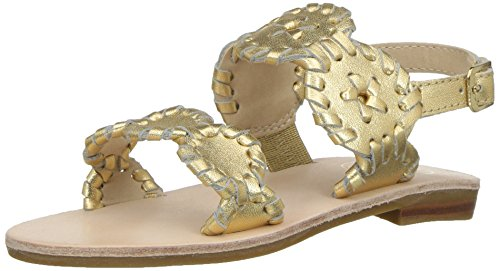 Jack Rogers Girls Miss Lauren Flat Sandal, Gold, 11 for sale  Delivered anywhere in USA
