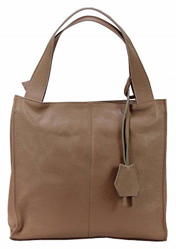 BOZANA Bag Nina Rose Powder Italy Designer Damen Handtasche Ledertasche Tasche Wildleder Prägung Shopper Neu