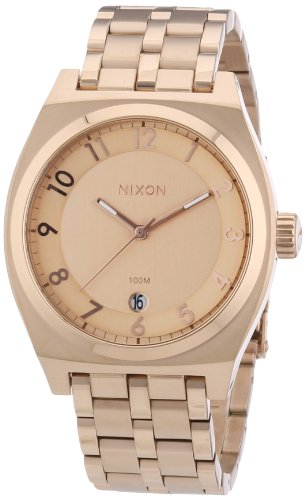 Nixon Men's Monopoly A325897 Rose-Gold Stainless-Steel Quartz Watch with Rose-Gold