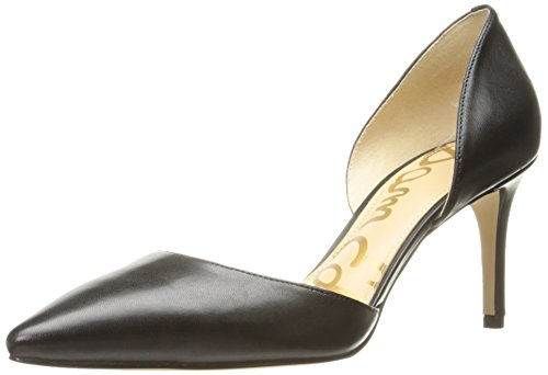 Sam Edelman Women's Telsa Pump, Black Leather, 8.5 M US by Sam Edelman