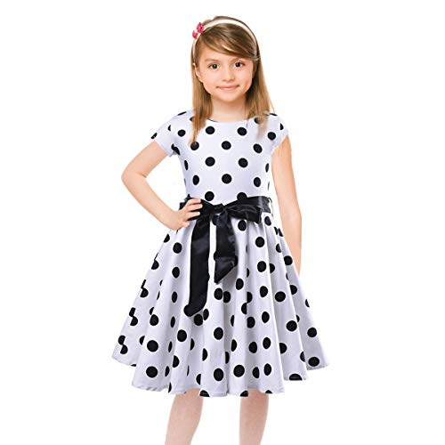 4e6e8d6af8ee Vintage Girls Dresses Polka Dot Swing Rockabilly Dresses for Girls for  Party Special Occasion