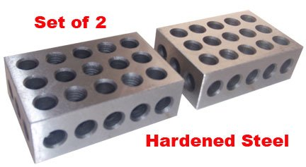 BL-123 Pair of 1'' x 2'' x 3'' Precision Steel 1-2-3 Blocks by 1-2-3 Blocks