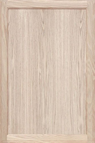 Unfinished Oak Square Flat Panel Cabinet Door by Kendor, 36H x 24W