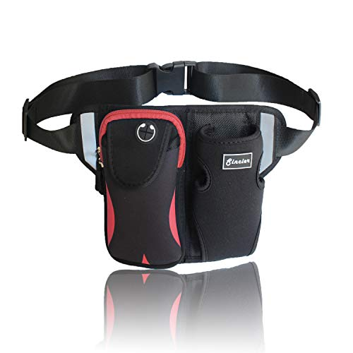 Waist Bag with Water Bottle Holder, Sincier Adjustable Medium-Length Strap,Outdoor Fanny Pack for Cycling,Camping,Climbing,Hiking