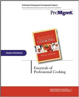 Book Essentials of Professional Cooking: Student Workbook