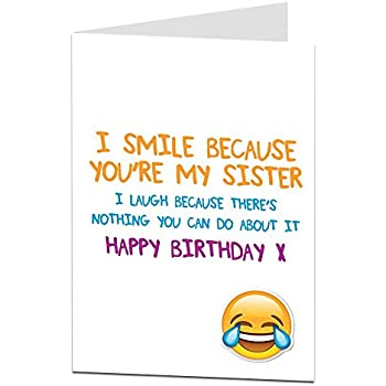 Amazon BIG Happy Birthday Card To Sister 85 X 11 Inch