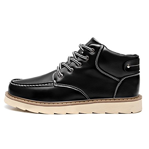 Amazon.com | ZLY Fashion Sneakers Casual Leather High-top Lace Up Oxfords Shoes | Chukka