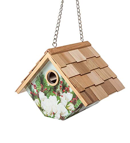 Holiday-Themed Wooden Wren House - 8.25 L x 6.5 W x 6.5 H -