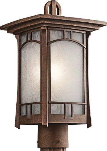 Kichler 49453AGZ, Soria Cast Aluminum Outdoor Post Lighting, 150 Total Watts, Aged Bronze -