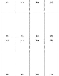 raffle ticket templates 8 per page