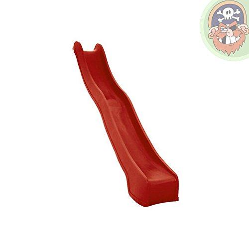 Wellenrutsche Anbaurutsche Rutsche 3 m rot TÜV/GS von Gartenpirat®