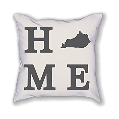 "CaFan Personalized Throw Pillow Cover Kentucky State Home Decor Pillowcase Zippered Square Pillow Case-18"" x 18"""