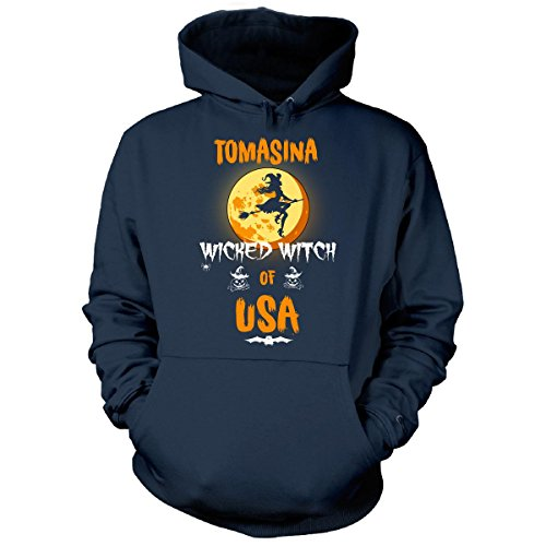 Tomasina Wicked Witch Of Usa. Halloween Gift - Hoodie Navy (Tomasina Halloween)