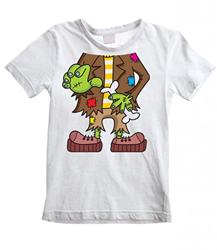Tribal T-Shirt Big Boys' Frankenstein Outfit Costume Fancy Dress T-Shirt 7-8 White