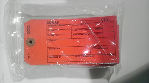 (Electromark Red Inspection Tag, Cardstock, Scrap, 6-1/4